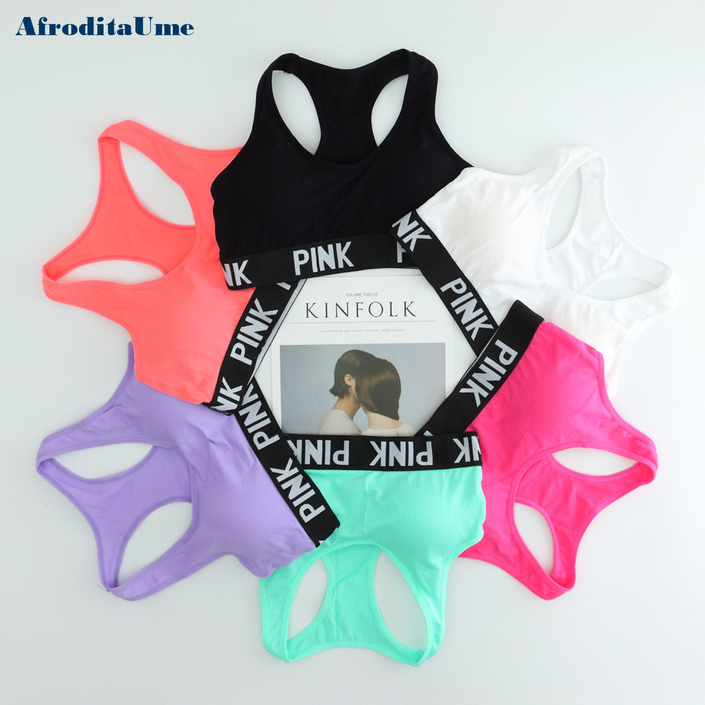 Women Casual Crop Top Cropped Padded Bra Tank Top Vest Fitness Workout Bras 2