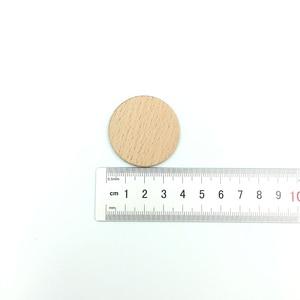 Image 2 - 100 חבילת 38mm 1.5 אינץ גמור עץ מעגל עגול טבעי כפרי עץ מגזרת עבור עיצוב הבית Diy קרפט ספקי
