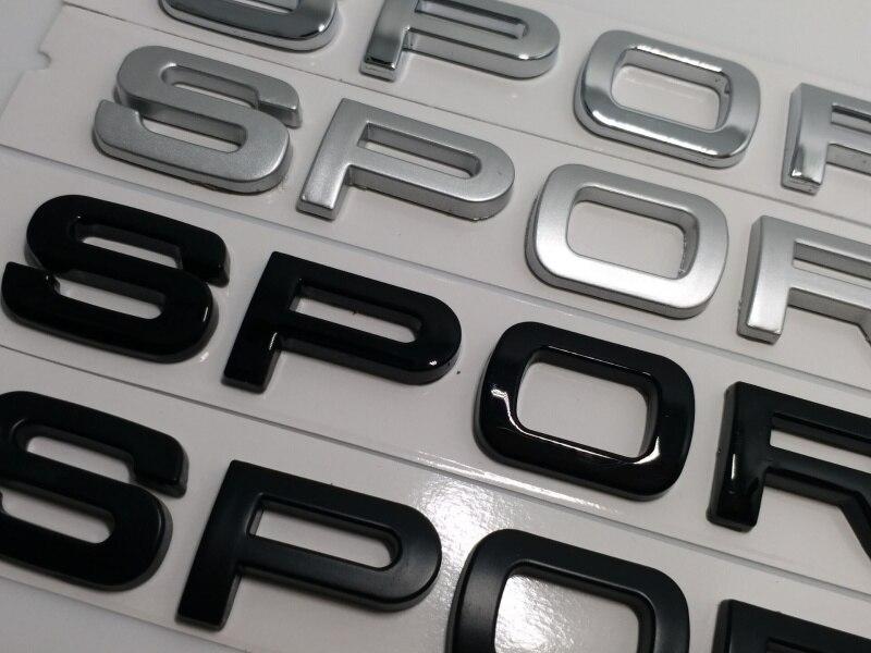 "Silver /"" SPORT /"" Letters Trunk Badge Rear Emblem Badge Sticker for LAND ROVER"