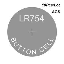 Alkalin piller izle hücreleri düğme AG5 1.5V LR754 SG5 G5A SR754 LR48 LR750 L750 D393 SR48 193 309 393 393A 1136SO 1137SO