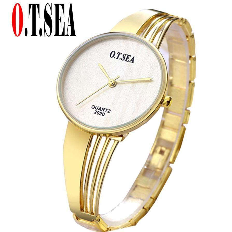 Top O.T.SEA Brand Rose Gold Bracelet Watches Women Ladies Dress Quartz Wristwatches Relogio Feminino 2020 dress watches women ladies gold