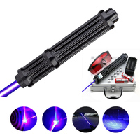 High quality Lengthen Powerful Blue Laser Pointers 450nm Lazer Sight Flashlight Burning Game / Burning light cigars / candle