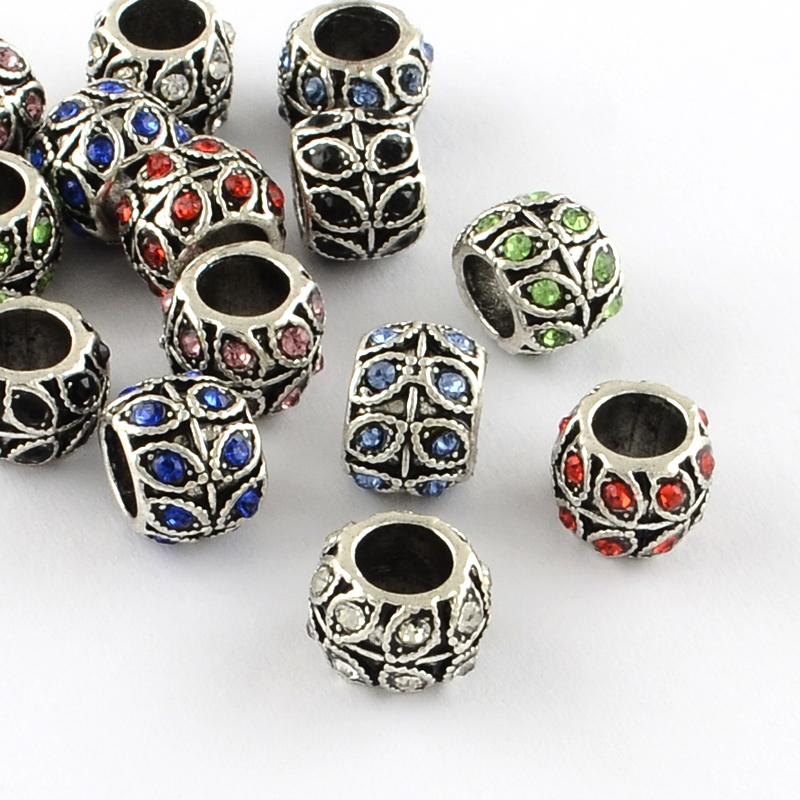 5pcs 10MM Black  CERAMIC BEADS HOLE SIZE 2.5MM FITS BEADABLE PENS