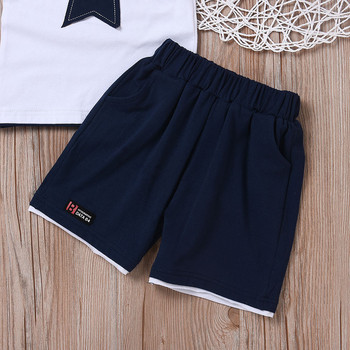 Newborn baby boys clothing set five-star t-shirt and short 2pc set 5
