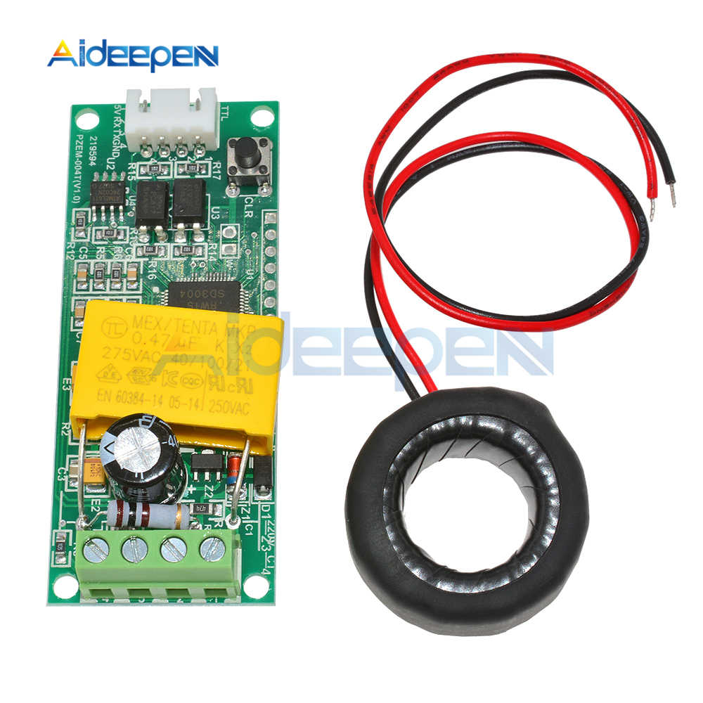 0-100A 80-260V Ac Digitale Multifunctionele Watt Voltage Huidige Test Meter Module PZEM-004T Voor Arduino