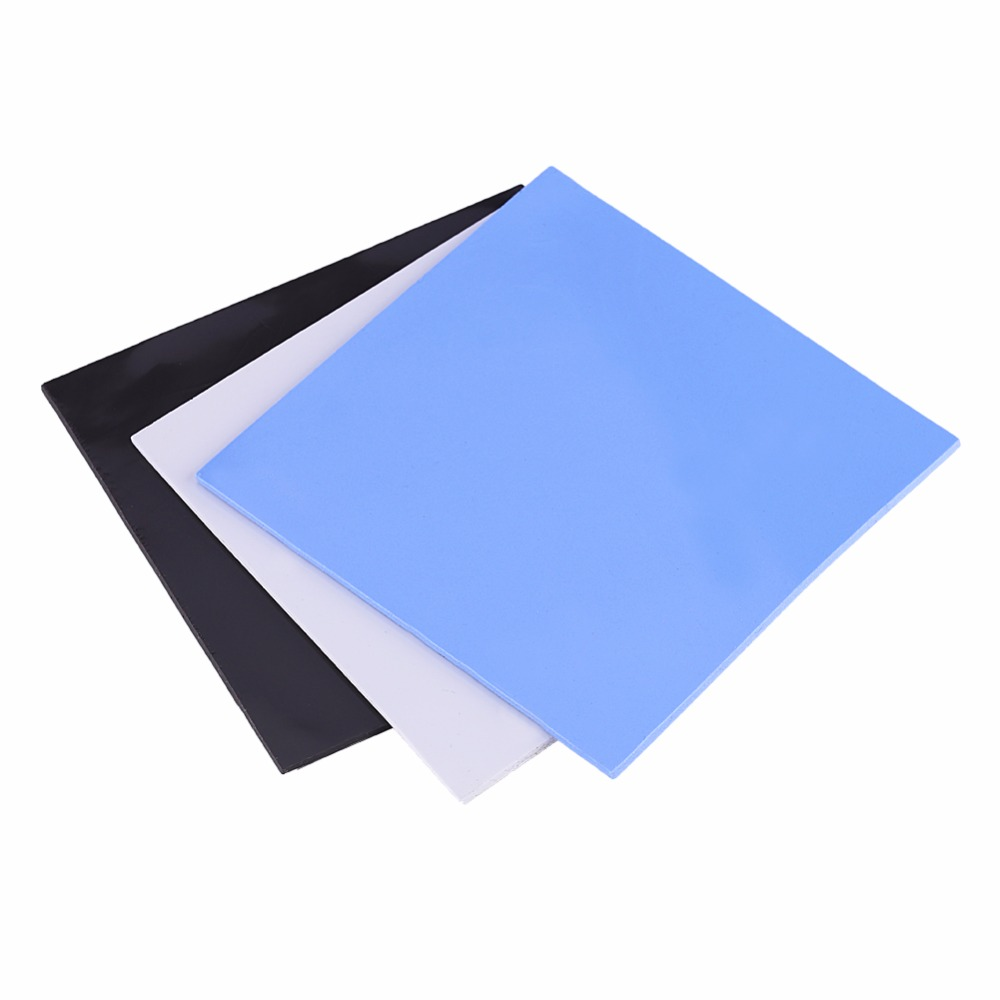 100x100x2mm CPU Thermal Pad Heatsink Cooling Conductive Silicone Pads Blue, Gray, Black 3 Colors 2017 fashion new style игрушка ecx ruckus gray blue ecx00013t1