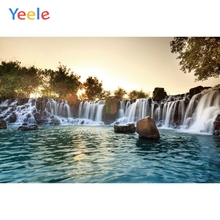 Yeele Landscape Photocall Waterfall River Painting Photography Backdrops Personalized Photographic Backgrounds For Photo Studio