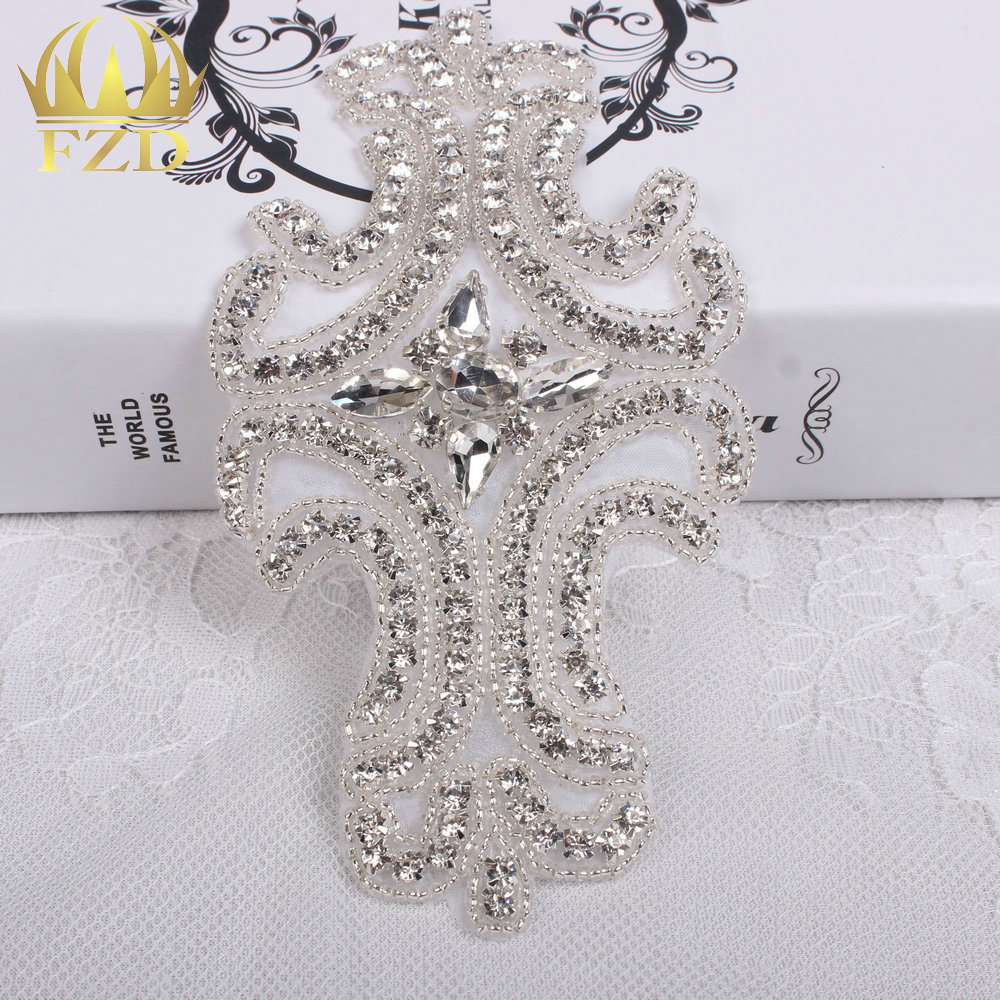 30pieces) Wholesale Sewing On Beaded Hot Fix Bling Rhinestone ...