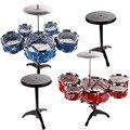 27 ''jazz drum set com cadeira crianças educação infantil brinquedo instrumento de percussão para crianças presente de aniversário