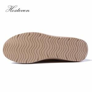 Image 5 - Hosteven/Женская обувь; кроссовки на плоской подошве; лоферы на платформе из коровьей замши; сезон весна осень; женские мокасины; женская обувь
