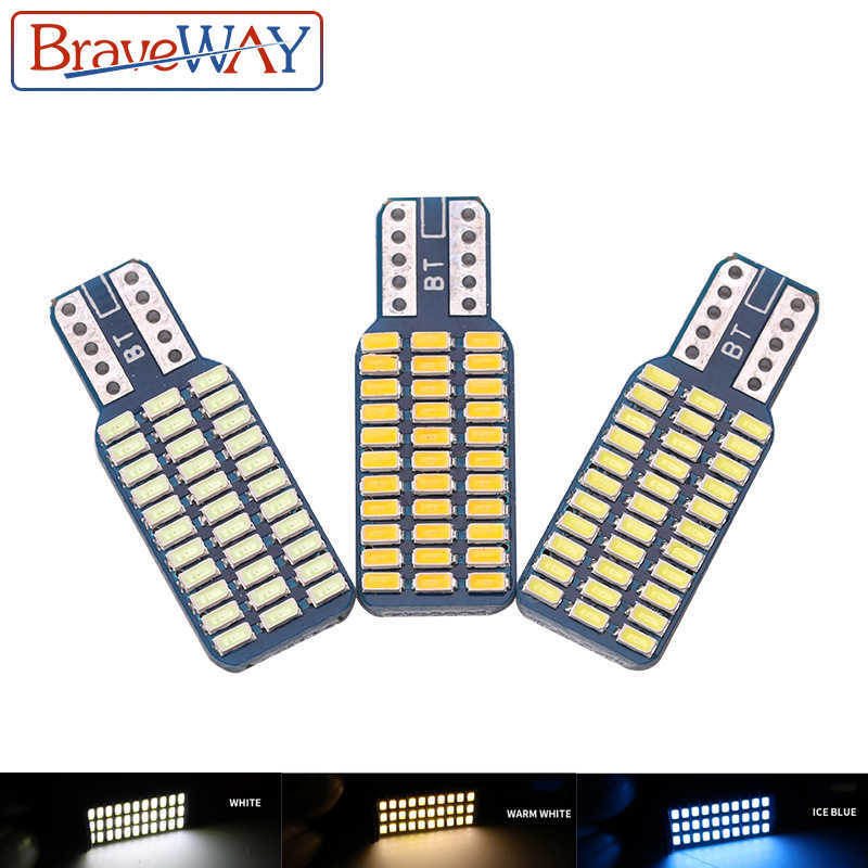 BraveWay T10 LED light bulb car CANBUS no error 12V 24V Super bright clearance bulb lamp white ice blue Reading Dome Car Door