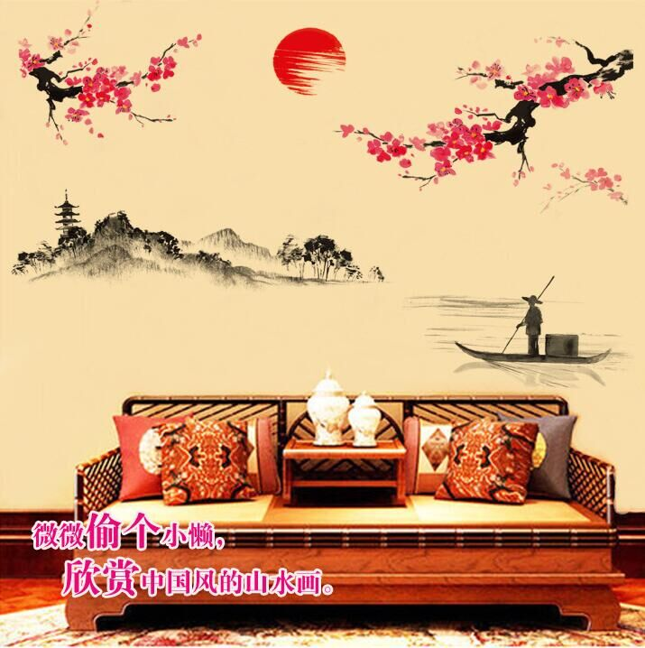 Online Shop Baijuyi Poet for Chinese Retro Beauty Bird Red flowers ...