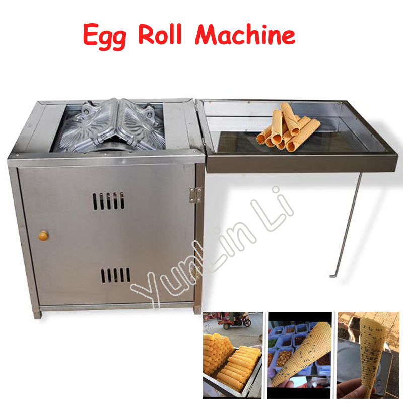 Gas Egg Roll Machine Commercial Baker Stainless Steel Toasted Crispy Egg Roller Non Stick Pan Roll Making Machine 60 - 2