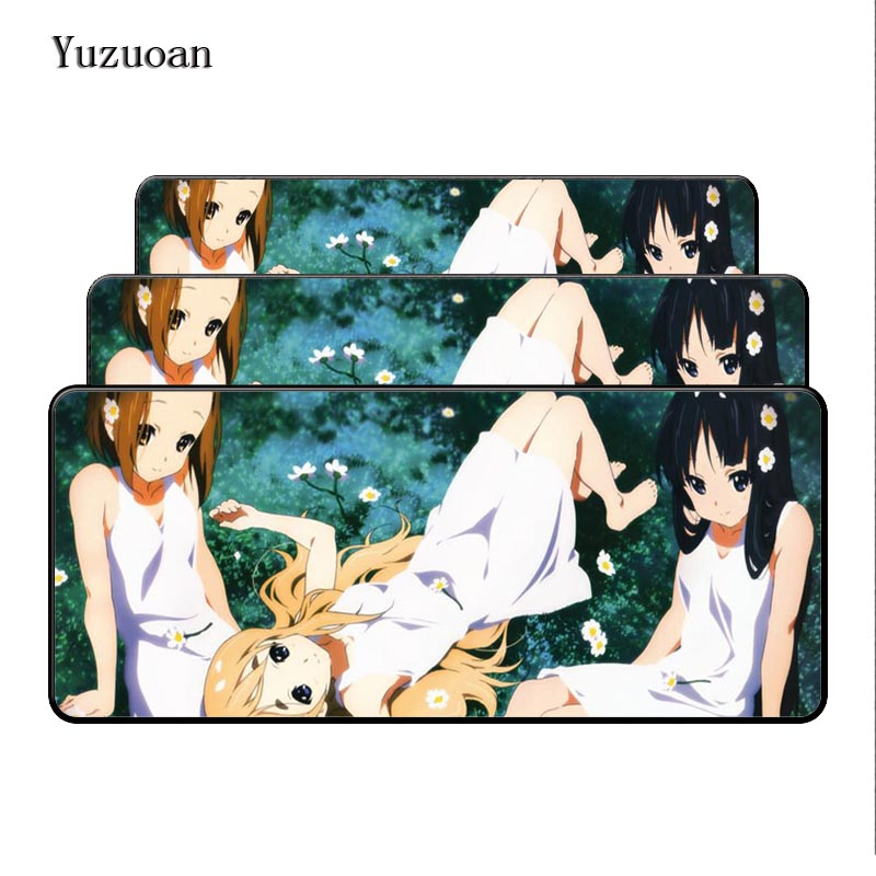 Yuzuoa Printing Edge Rubber Mat Hatsune Miku Japanese Cushion Pad Large Mouse pads Cushion Soft Pad of the game keyboard As Gift