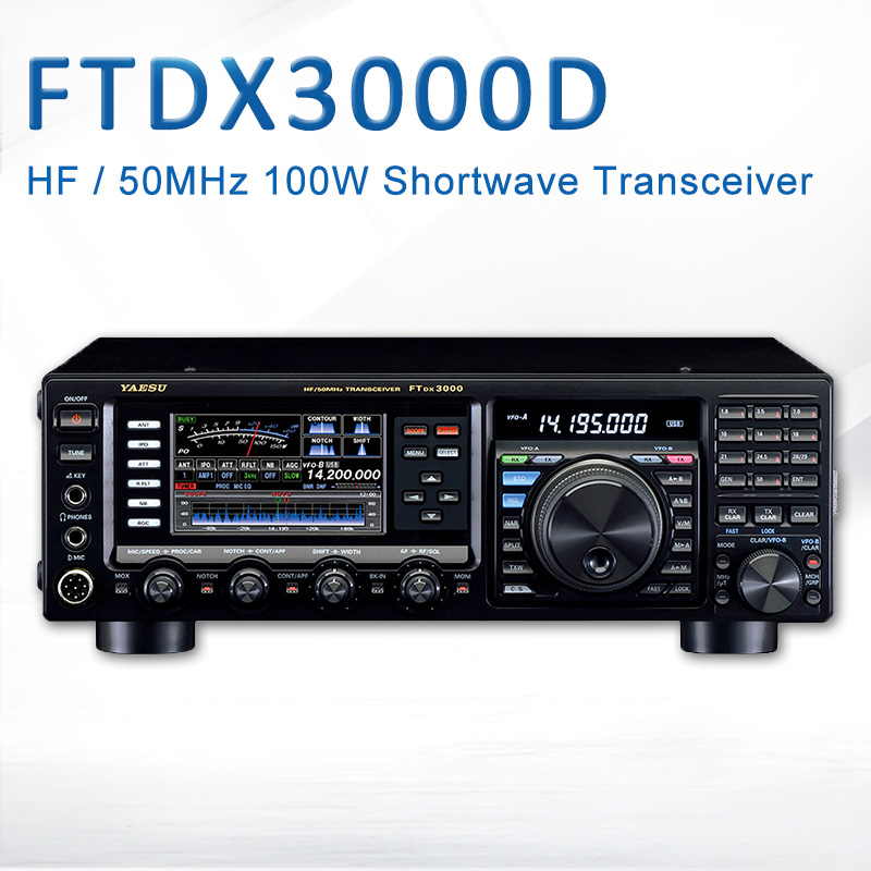 Yaesu FTDX 3000D Shortwave Radio HF/50MHz Multimode Multiband 100w Shortwave Radio Transceiver