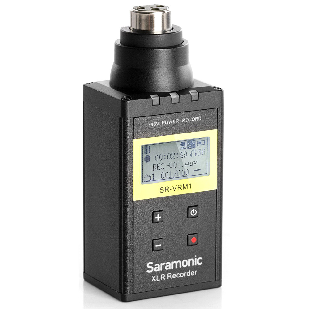 Saramonic SR-VRM1 Digital Plug-on Linear PCM Recorder with Phantom Power LCD Display for XLR Microphones микрофон saramonic sr pmic3