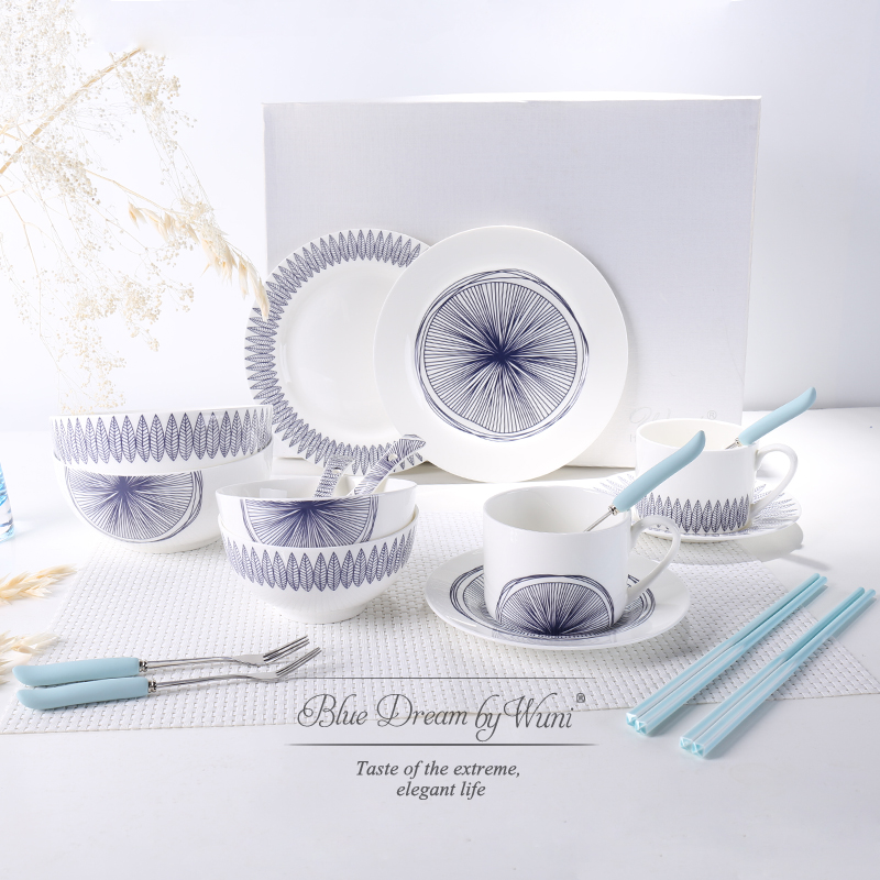 Blue And White Mediterranean Style Simple European Style