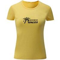 포장 공주 디자인 여름 짧은 소매 재미 T 셔츠 여성 탑스 캐주얼 티셔츠 소녀 레이디 플러스 사이즈 Sml XL XXL