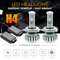 H4 LED Hi Lo Beam Car Headlight Bulb 70W 6500K 8000LM Auto LED Headlamp CREE CSP