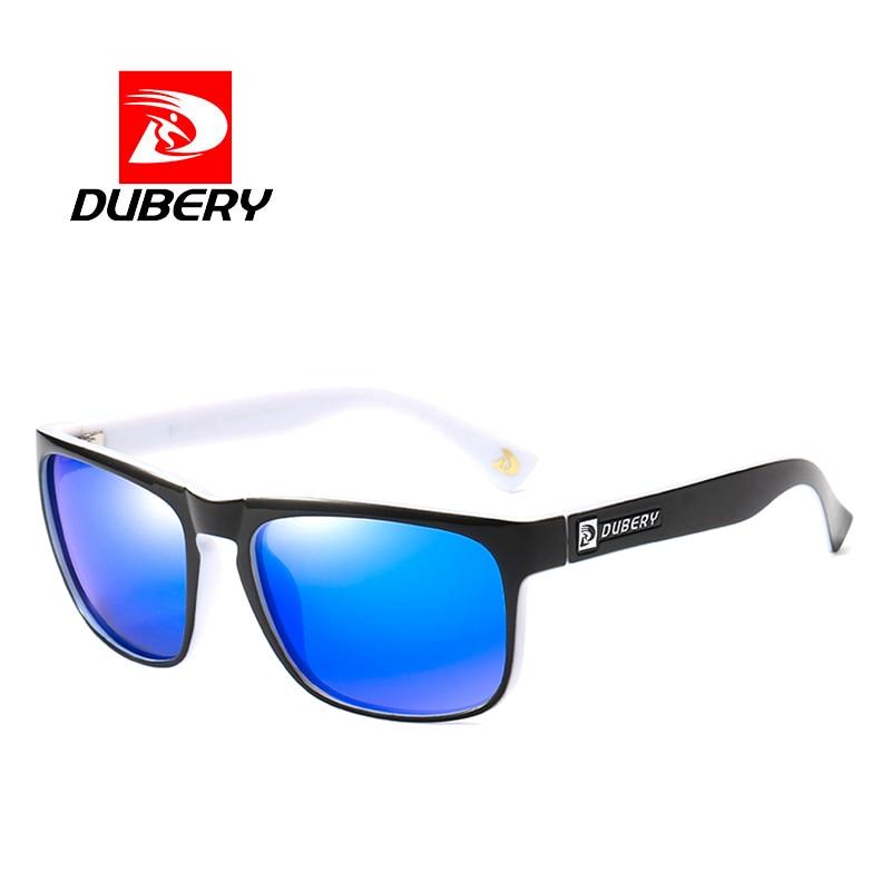 DUBERY Polarized Sunglasses Mens Square Vintage Male Colorful Sun Glasses For Women Fashion Brand Luxury Mirror Shades Oculos