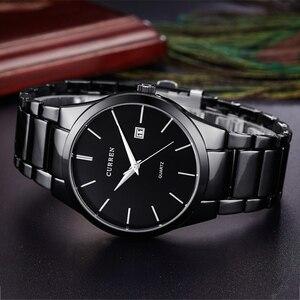 Image 4 - Curren Luxe Klassieke Mode Business Mannen Horloges Display Datum Quartz Horloge Mannelijke Horloge Volledige Steel Klok Relogio Masculino