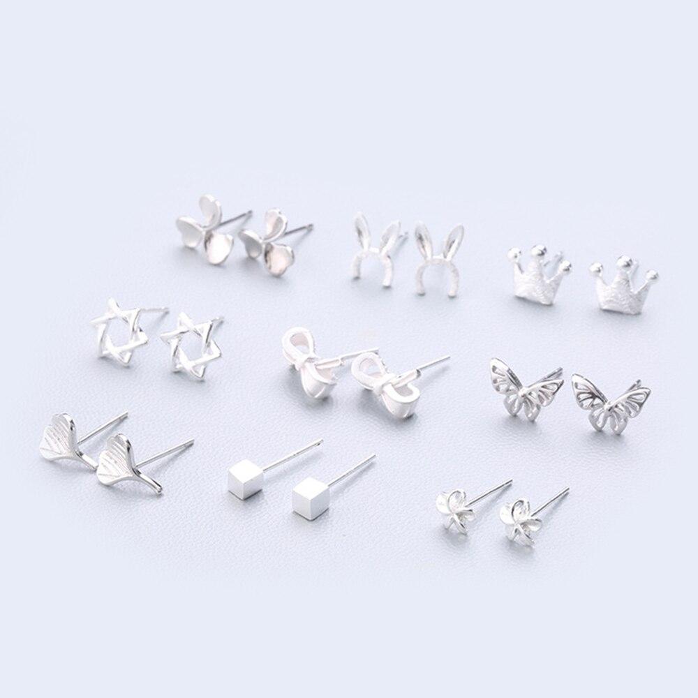 XIYANIKE Fashion Geometry Earring Hot Sale 925 Sterling Silver Cute Stud Earring Ear Needle Simple Personality For Women 127-144