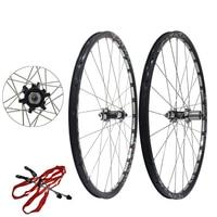 Горный велосипед колеса для велосипеда 26 Алюминий литые диски Mtb дисковый тормоз для колеса комплект (1 пара)