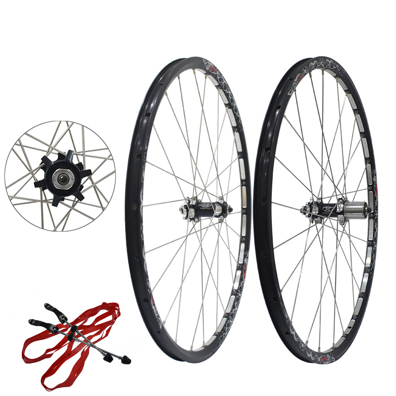 Mountain Bike Bicycle Wheels 26 Aluminum Alloy Wheels Mtb Disc Brake Wheel Set 1pair aluminum alloy bicycle crank chain wheel mountain bike inner bearing crank fluted disc mtb 104bcd bike part