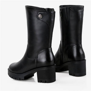 Image 5 - MORAZORA 2020 روسيا جلد طبيعي الصوف الطبيعي الأحذية جولة تو البريدي حذاء الثلج عالي الرقبة دافئ مريحة منتصف العجل أحذية حريمي برقبة