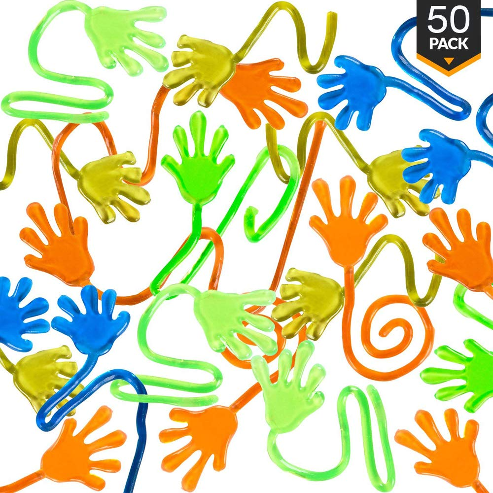 50pcs Party Favors Supplies Vinyl Sticky Hands Slap Squishy Toy Play Pinata Fillers Birthday Gift Treat Bag Wedding Favors