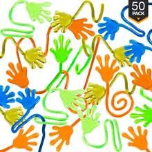 Suministros de recuerdo de fiesta, 50 Uds., vinilo adhesivo para manos Slap, juguete blando, relleno para piñatas, regalo de cumpleaños, bolsa de regalo, recuerdos de boda