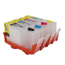 For HP 670 XL hp670 BK C M Y Refillable ink Cartridge 4 color for HP