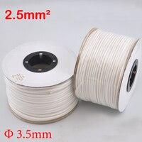 1roll 2 5mm2 PVC 3 5mm ID White Handwriting Ferrule Printing Machine Number Plum Tube Wire