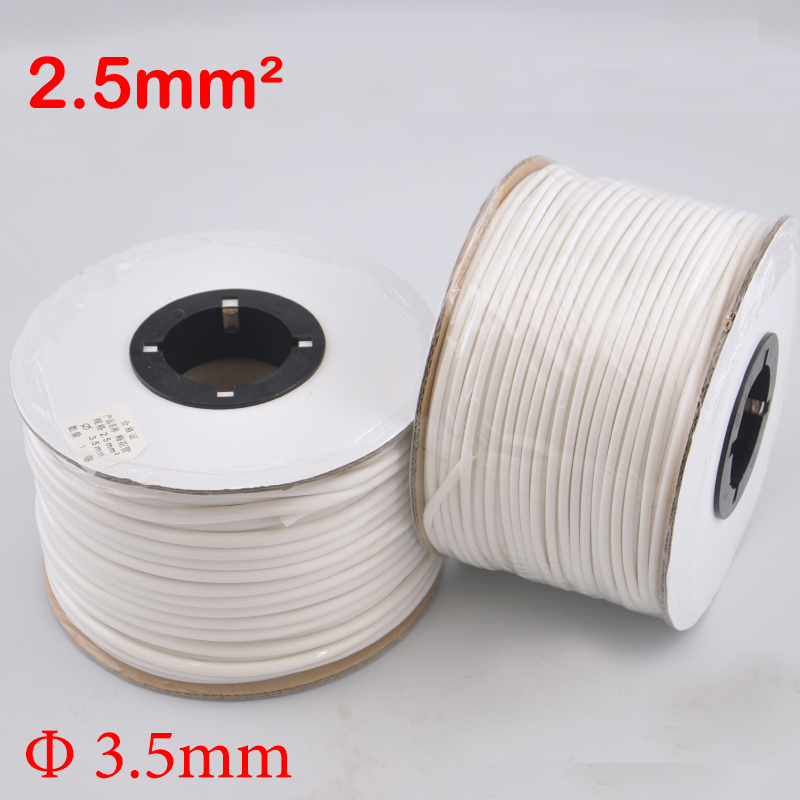 1roll 2.5mm2 PVC 3.5mm ID White Handwriting Ferrule Printing Machine Number Plum Tube Wire Sleeve Blank Cable Marker
