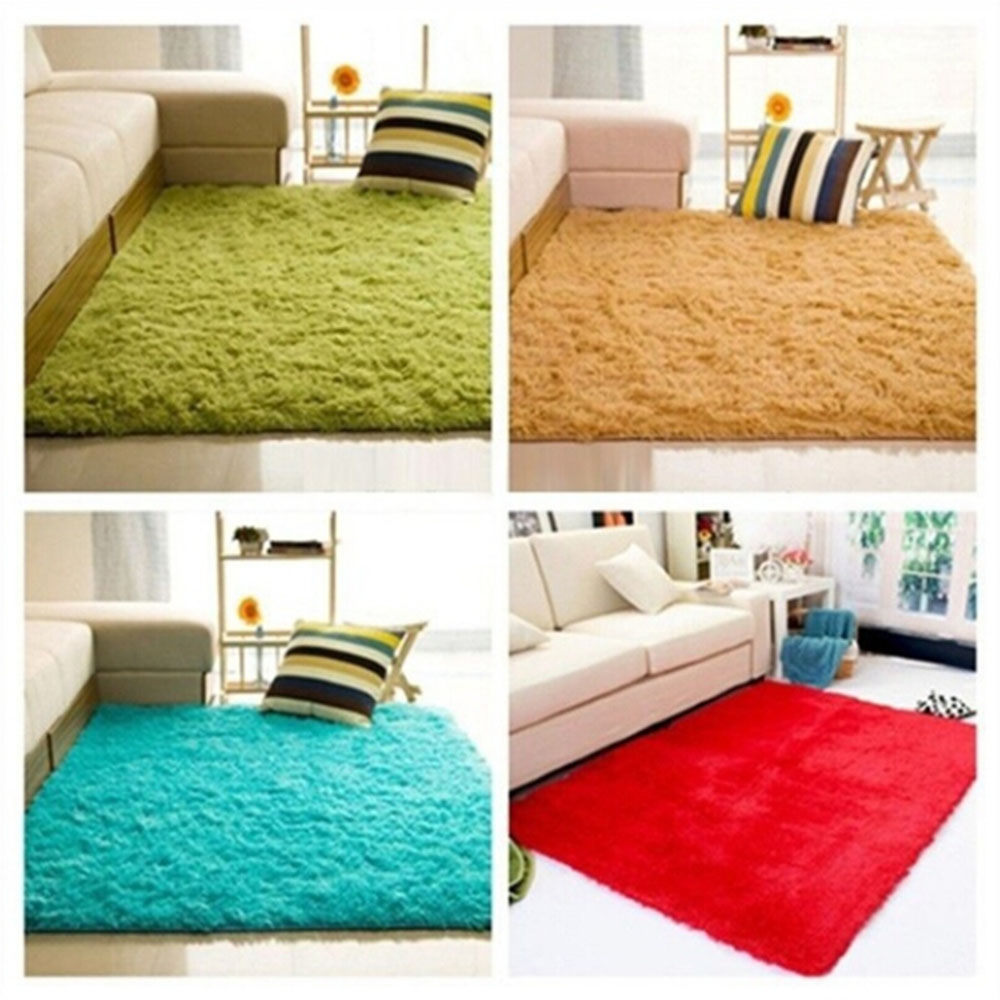 Cotton Carpet Living Room Dining Bedroom Area Rugs Anti: 60*90 Cm Soft Fluffy Rugs Anti Skid Shaggy Area Rug Dining