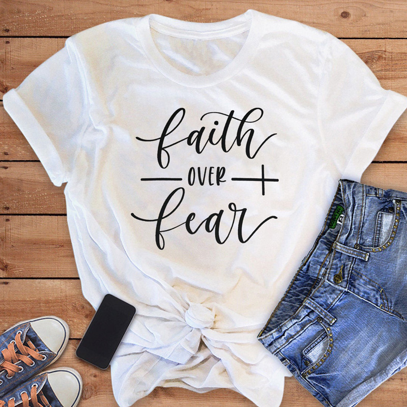 Faith Over Fear Christian T-Shirt 19