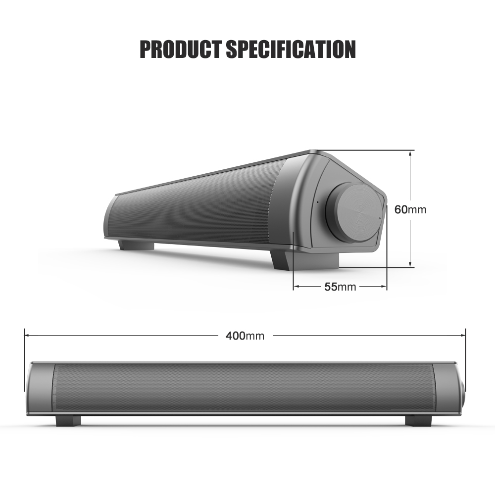 Bluetooth Soundbar Wireless sound bars with Loud Stereo Sound Theater Audio Speaker For TV For Computer For Phone N30C in Portable Speakers from Consumer Electronics