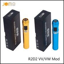10ชิ้น/ล็อตJomoTech R2D2 VV VW Mods OLCDบุหรี่อิเล็กทรอนิกส์สมัยEgoและ510 R2D2 15วัตต์กล่องสมัยEcig 18650แบตเตอรี่สมัยJomo-89: D10