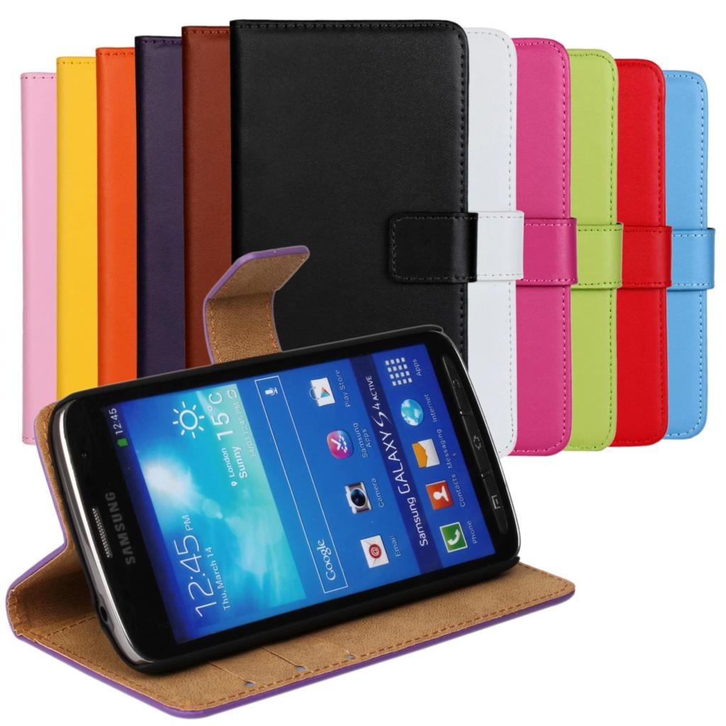 S4 active wallet Leather case For Samsung Galaxy S4 Active