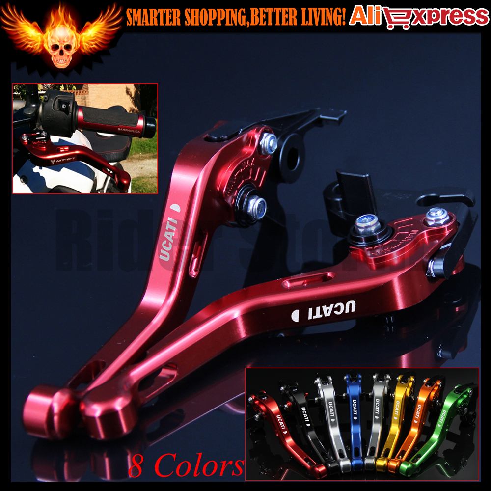 ФОТО 8 Colors CNC Aluminum Motorcycle Short Brake Clutch Levers for Ducati HYPERMOTARD 939/Strada 2016 Short only w/stock handguards