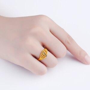 Image 4 - Jlzb 24 18k 純金リングリアル au 999 純金指輪エレガントなシャイニービュ高級流行の古典的なジュエリーホット販売新 2020