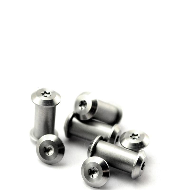 Fêmea rebites parafusos para bloquear haste de aço inoxidável parafuso rebites diy ferramenta titular fuso pregos 2 peças