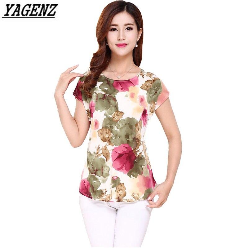 YAGENZ T-shirt Women New Fashion Printed