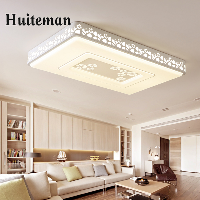 New Acrylic Modern LED ceiling Light Dimmable 90-260V rectangle ceiling lamps for living room bedroom dining room home lighting modern crystal chandelier hanging lighting birdcage chandeliers light for living room bedroom dining room restaurant decoration
