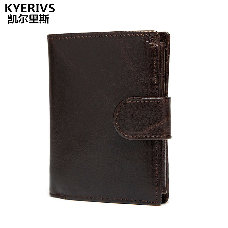 KYERIVS Genuine Cowhide Leather Wallet Men Wallets Fashion Design Brand Coin Purse Male ID Card Holder with Zipper Coin Pockets alterna anti frizz conditioner