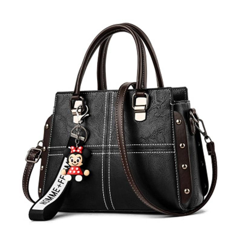 2019 Women Shoulder Bags Crossbody Bag For Women Handbag Pu Leather Candy Color Cute With Fur Ball Shell Shape Bag