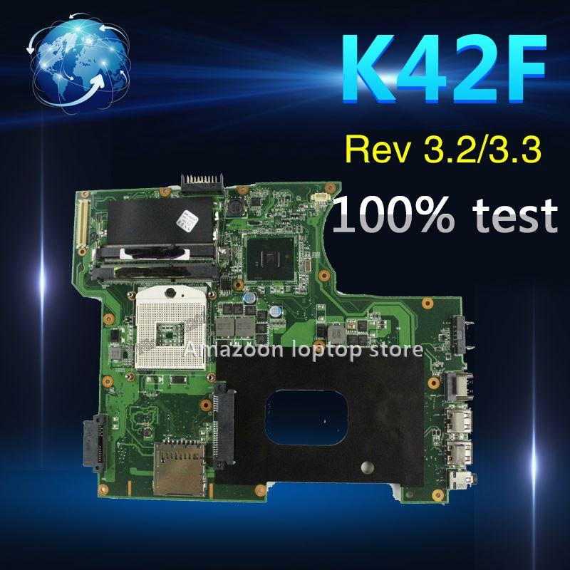 K42F Rev 3.2/3.3 GMA HD USB2.0 HM55 PGA989 mainboard for Asus K42F  X42F a42F P42F Motherboard 100% fully testedK42F Rev 3.2/3.3 GMA HD USB2.0 HM55 PGA989 mainboard for Asus K42F  X42F a42F P42F Motherboard 100% fully tested