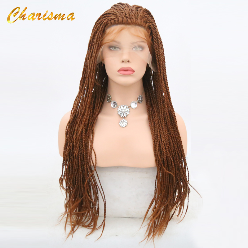 Charisma 30 Color 2X Twist Braids Wig Synthetic Lace Front Wigs 24 Inch Heat Resistant With