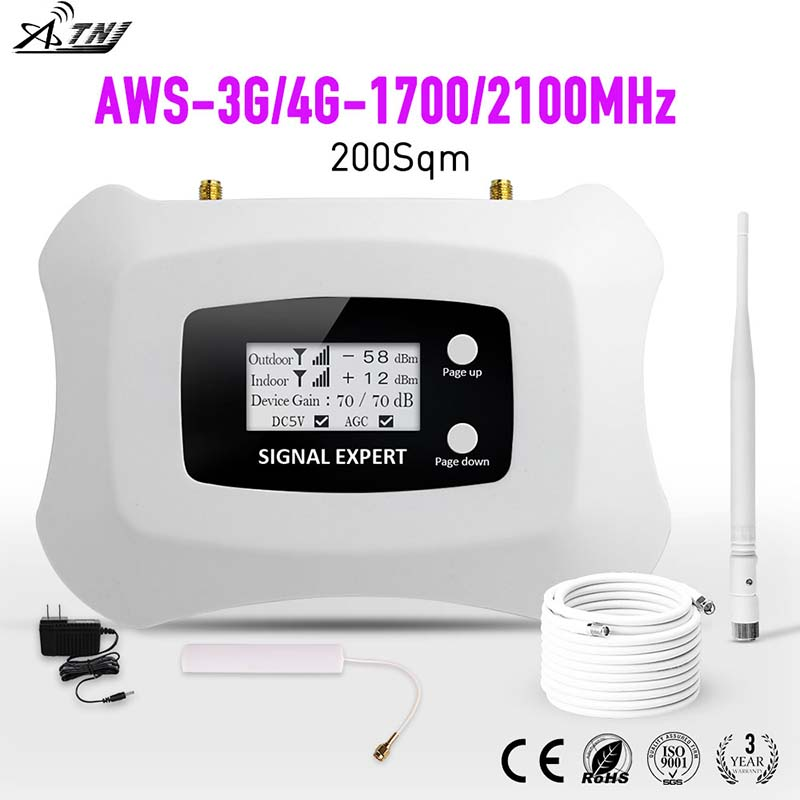 HOT Satış! Tam ağıllı LCD AWS 1700mhz 3G LTE 4G təkrarlayıcı - Cib telefonu aksesuarları və hissələri - Fotoqrafiya 6