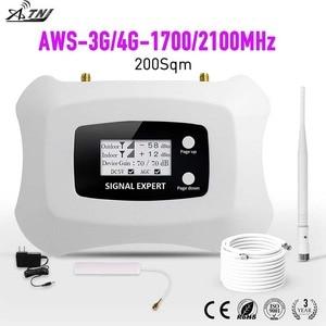 Image 5 - حار بيع! كامل الذكية LCD AWS 1700mhz 3G LTE 4G مكرر هاتف محمول مكرر إشارة المحمول الخلوية مكبر صوت أحادي الداعم